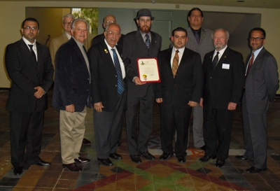 Brethren of Glendale Lodge at City Hall 4/12/11
